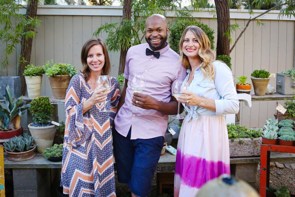 Lisa, Chef Kyle & Monique on a summer lark at Molly Wood Garden Design ~Summer 2015